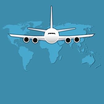 Иллюстрация вектора пассажирского самолета путешествия гражданской авиации.