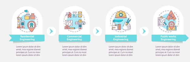 Civil engineering project infographic template