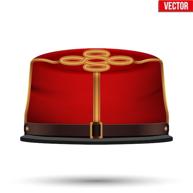 南北戦争南軍の大砲ケピ。南軍の帽子。正面図。白い背景のイラスト。