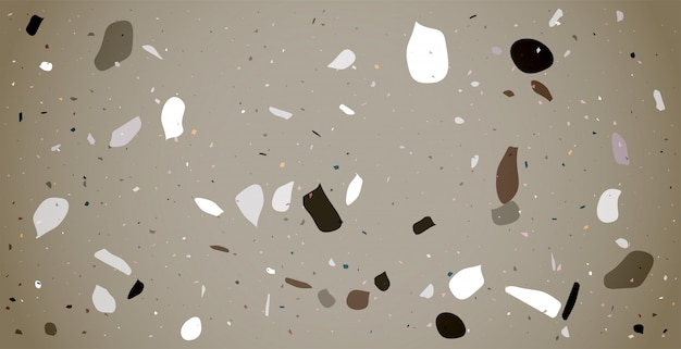 Claasic terrazzo flooring pattern texture background design