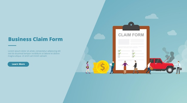 Claim form on the clipboard website banner