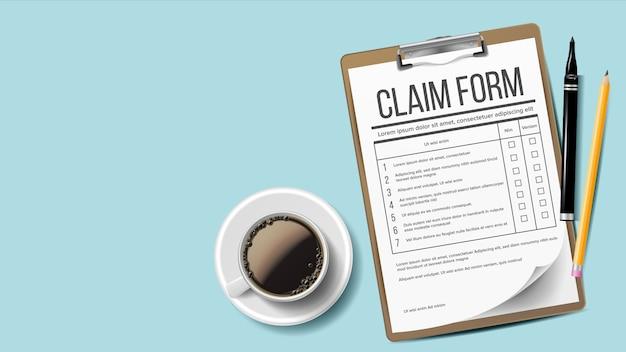 Claim form.