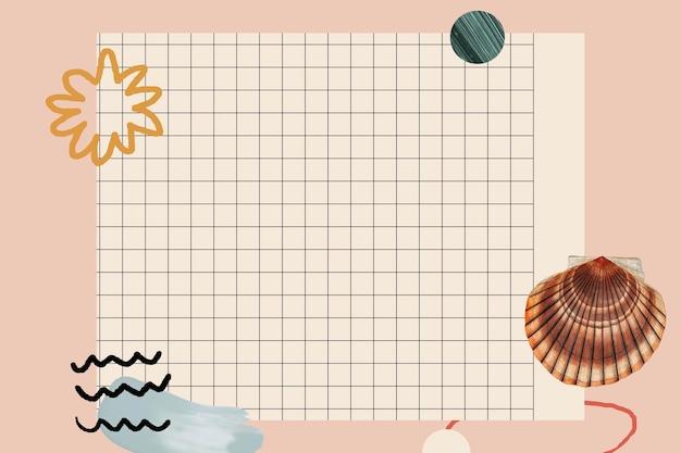 그리드 배경에 조개 껍질 패턴