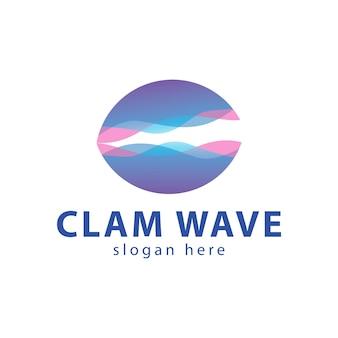 Clam wave color logo