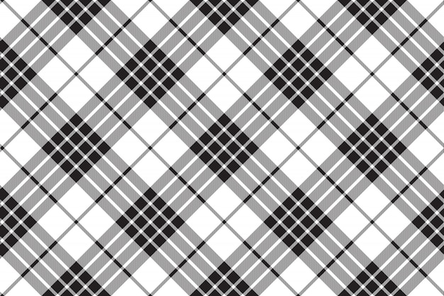 Clan cameron tartan black white seamless pattern