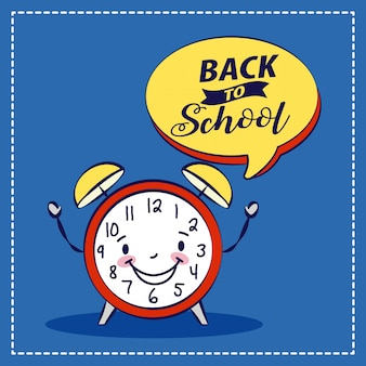 Claock and graphic resources related to back to school. illustration