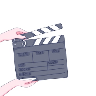 Clapboard cartoon illustration