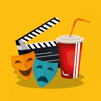 Clapper cinema production icons