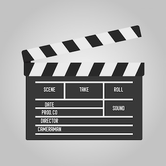 Clapperboard for movie making. clapper for cinema