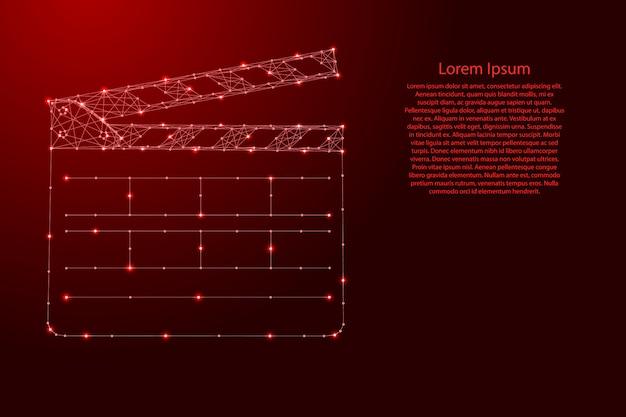 Формат чисел с 'хлопушкой' для двойников в фильмах из футуристических многоугольных красных линий