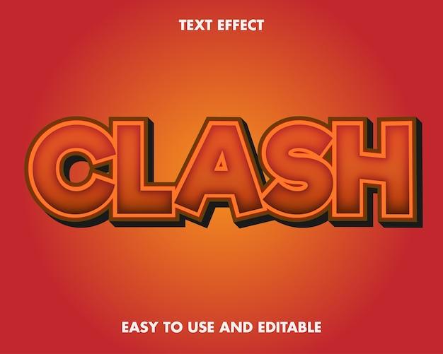 Текстовый эффект столкновения