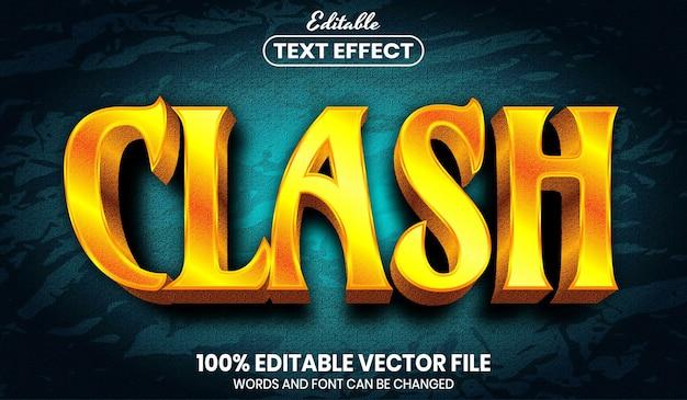 충돌 텍스트, 글꼴 스타일 편집 가능한 텍스트 효과