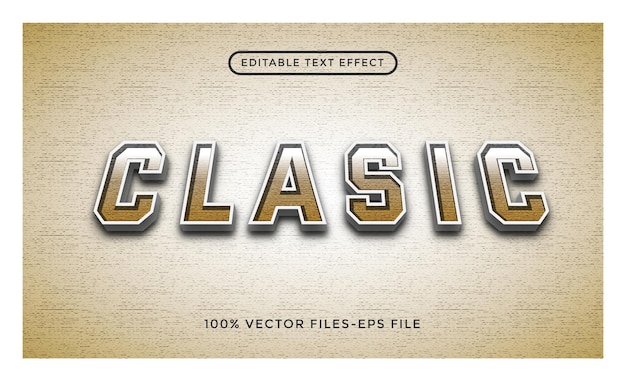 Clasic - illustrator editable text effect premium vector