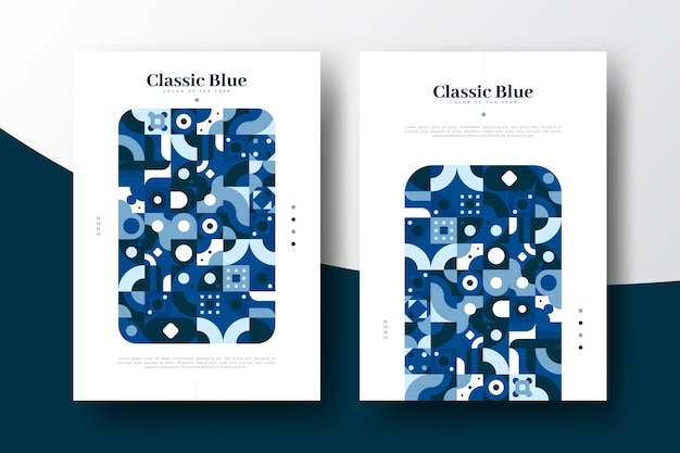 Classic abstract blue poster template