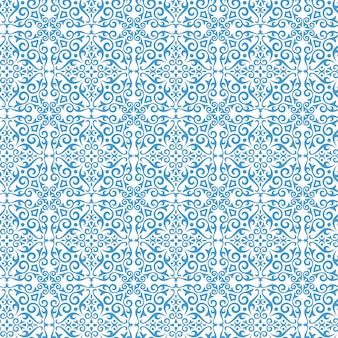 Classic abstract pattern with blue color