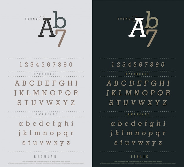 Classic alphabet letters set. narrow sanserif font