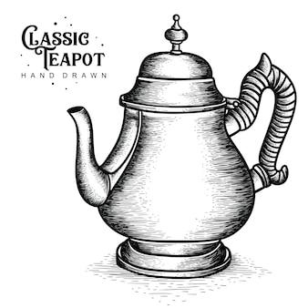 Classic aluminum teapot
