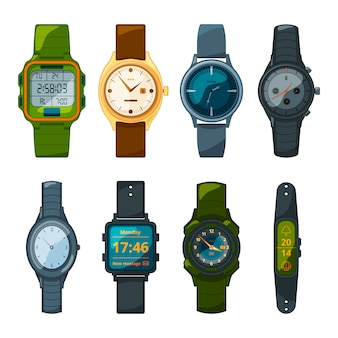 男性と女性のためのクラシックとスポーツの腕時計。