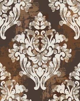 Classic antique style ornaments. victorian luxury texture Premium Vector
