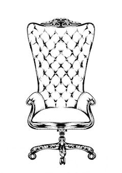 Classic armchair line art