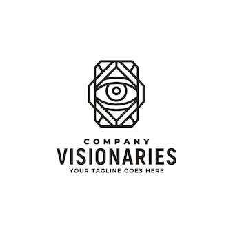Classic art deco of eye for illuminati, illusion, secret, treasure, magic, vision, mystery, visual and optical logo design