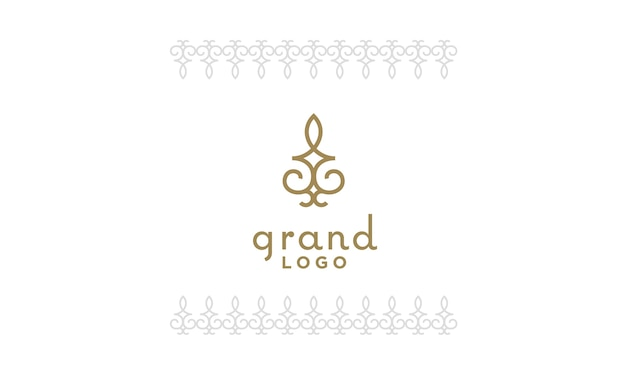 Classic artistic luxury elegant floral pattern logo design