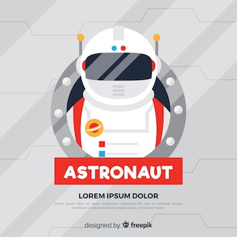 Classic astronaut character with flat design