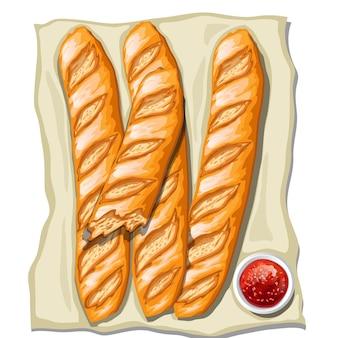 Classic baguettes bakealong
