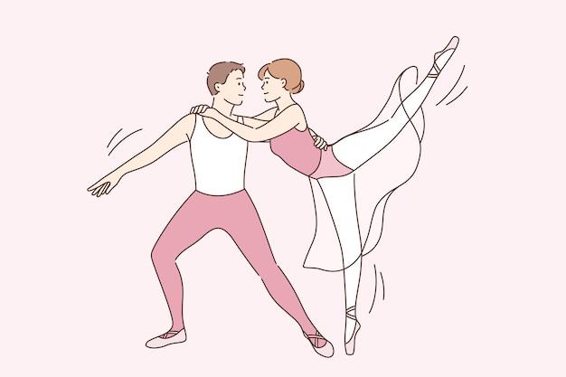 클래식 발레 댄서와 예술 개념