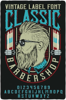 Classic barbershop vintage lettering