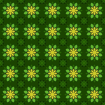 Classic batik seamless pattern background. luxury geometric mandala wallpaper. elegant traditional floral motif in green color