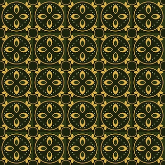 Classic batik seamless pattern background. luxury geometric mandala wallpaper. elegant traditional floral motif in green color