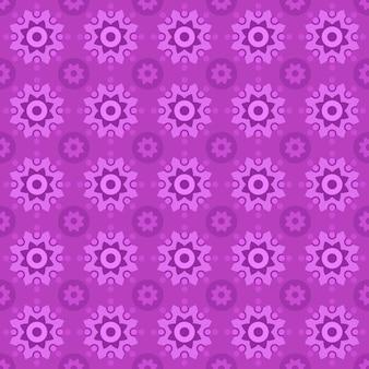 古典的なバティックのシームレスなパターン背景。豪華な幾何学的なマンダラの壁紙。ピンク色のエレガントな伝統的な花のモチーフ