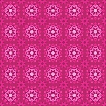 클래식 바틱 원활한 패턴 배경입니다. 고급 기하학적 만다라 벽지. 핑크 색상의 우아한 전통 꽃 모티브