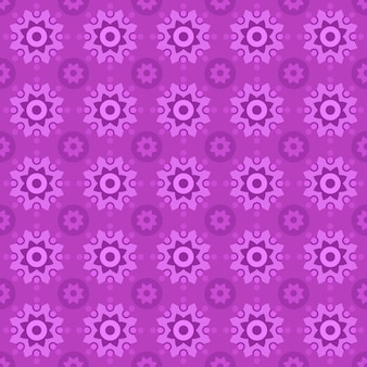 Classic batik seamless pattern background. luxury geometric mandala wallpaper. elegant traditional floral motif in pink color