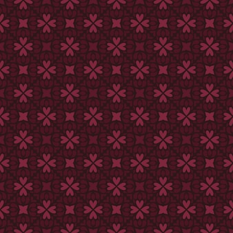 Classic batik seamless pattern background. luxury geometric wallpaper. elegant traditional floral motif in maroon color
