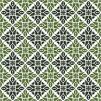 Classic batik seamless pattern background. luxury leaf mandala wallpaper. elegant traditional floral motif