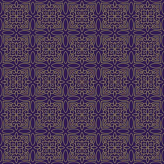Classic batik seamless pattern background. luxury leaf mandala wallpaper elegant traditional floral motif