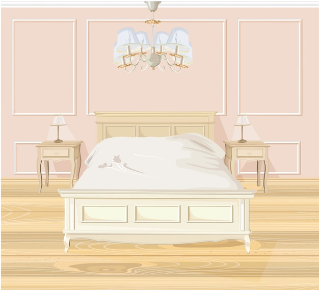 Classic bedroom watercolor