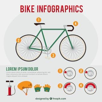 Классический велосипед инфографики