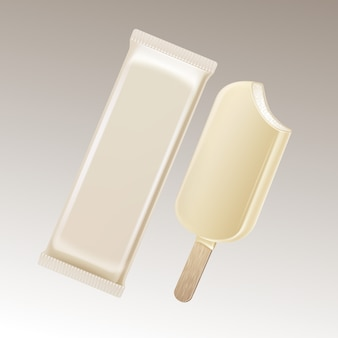 Classic bitten popsicle ice cream