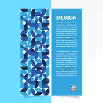 Classic blue abstract flyer template