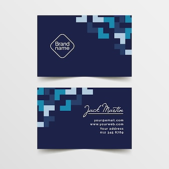 Classic blue business card template design
