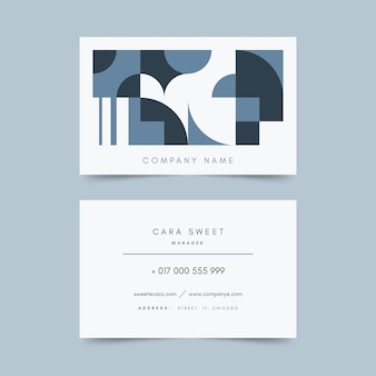 Classic blue business card template style