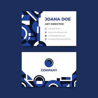 Classic blue business card template