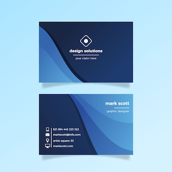 Classic blue business card