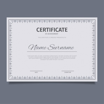 Classic blue certificate template design