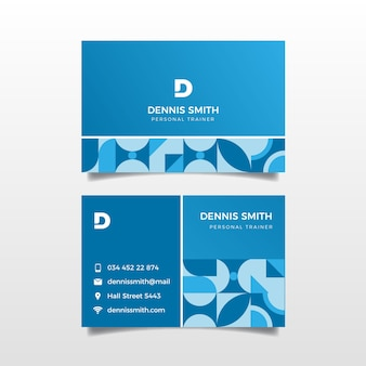 Classic blue company card template