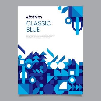 Modello di volantino blu classico