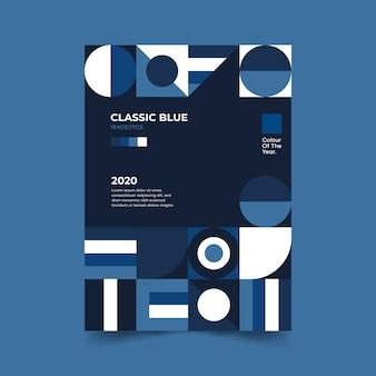 Modello classico poster blu